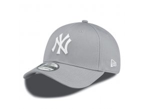 New Era 39thirty MLB League Basic NY Yankees Grey White - S/M