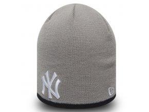 New Era MLB Team Skull knit NY Yankees Grey - UNI