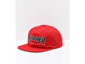 Thrasher Outlined Red Snapback Hat 303544 front US