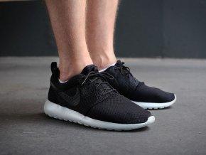 Fashion 511881 095 Nike Roshe Run Black Black White Men For Sale