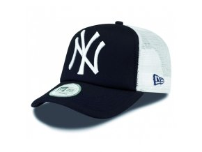 new era 9forty trucker clean t ny navy white cap 7324