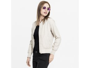 urban classics ladies light bomber jacket sand 32962