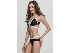 Dámske bikiny URBAN CLASSICS Ladies Contrast Bikini black/white (Veľkosť XS)