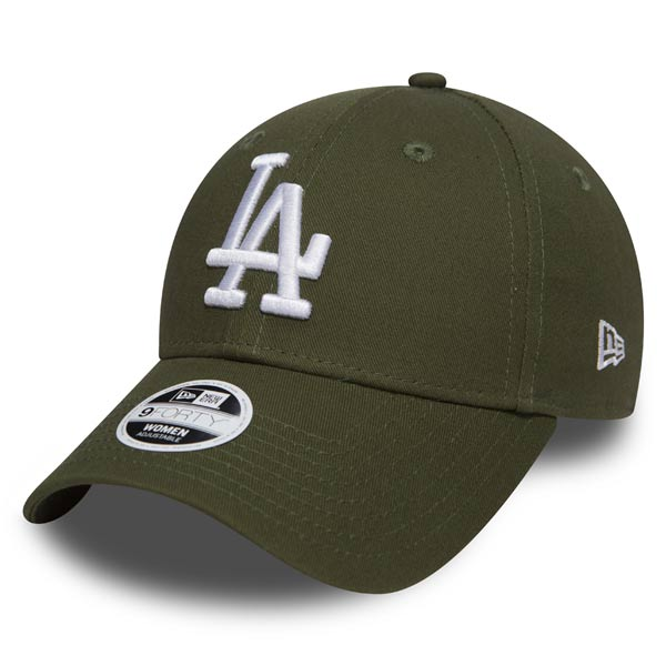 Šiltovka New Era 9Forty Womens Essential LA Dodgers Rifle Green Farba: Zelená, Pohlavie: UNI