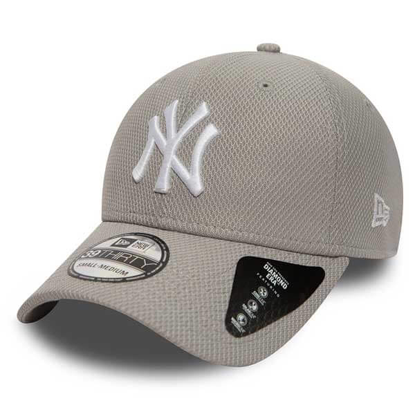 Šiltovka New Era 39thirty MLB Diamond Era NY Yankees Grey - Farba: Šedá, Pohlavie: UNI, Size: M/L