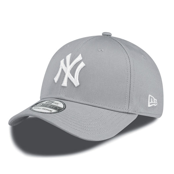Šiltovka New Era 39thirty MLB League Basic NY Yankees Grey White - S/M Farba: Šedá, Pohlavie: UNI