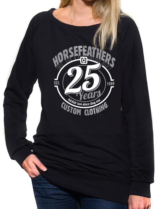 Dámska Mikina Horsefeathers 25 HF black Veľkosť: S