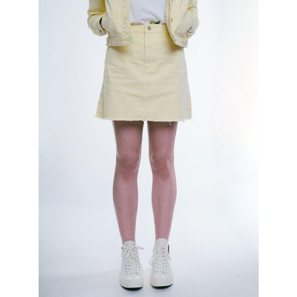 Dámska žltá riflová sukňa Urban Bliss Farba: Žltá, Veľkosť: S, Pohlavie: dámske