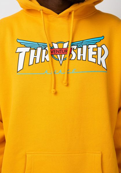 Pánska mikina THRASHER Venture Collab Hoodie gold Farba: Žltá, Veľkosť: M, Pohlavie: pánske