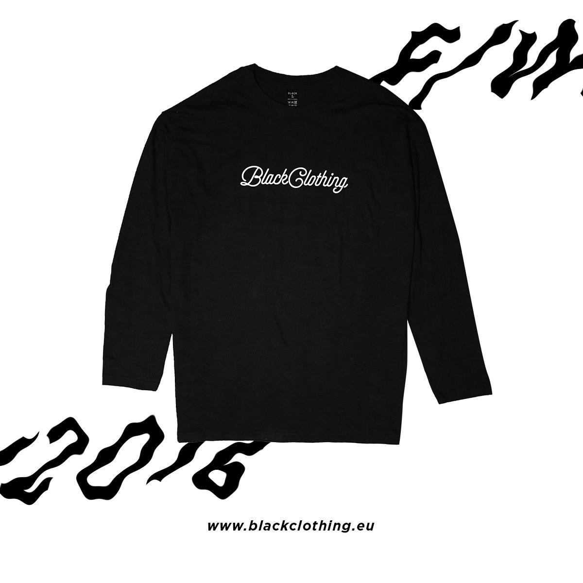 Tričko s dlhým rukávom BLACK Clothing Farba: Čierna, Veľkosť: M, Pohlavie: pánske