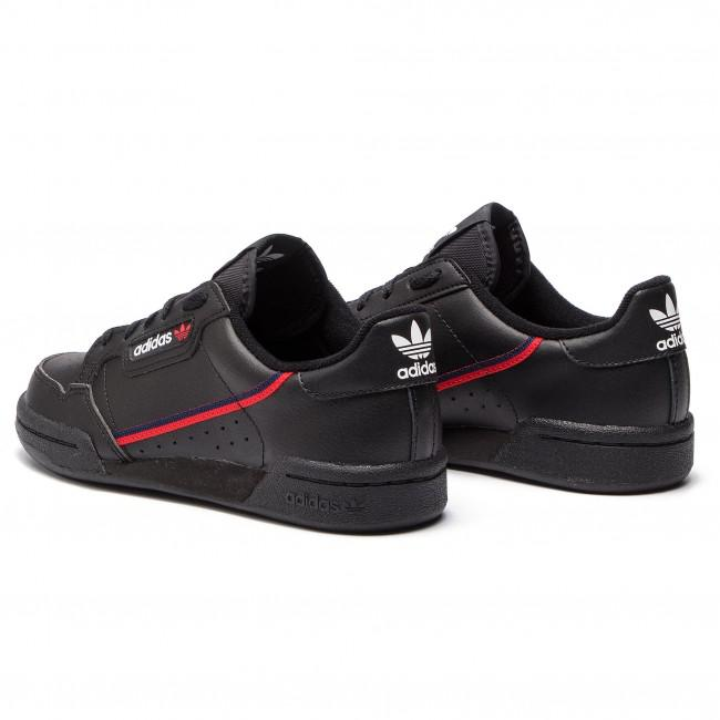 ADIDAS ORIGINALS Dámske čierne tenisky ADIDAS Adidas Continental 80 Junior Veľkosť: 36