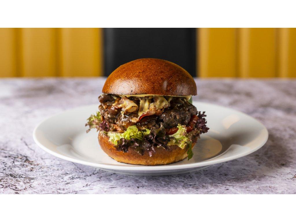 Mango burger + ZDARMA hranolky