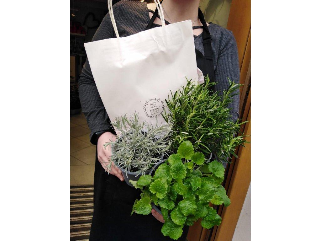 Taška plná bylinek