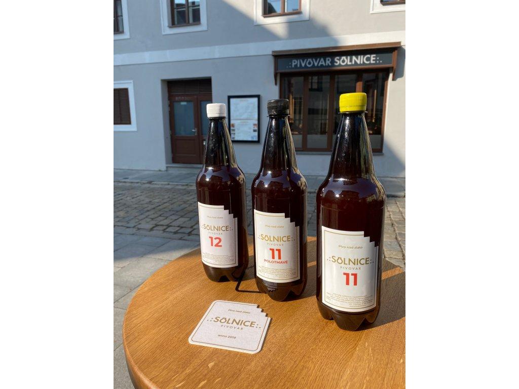 solnice 12 - čepované pivo 1l