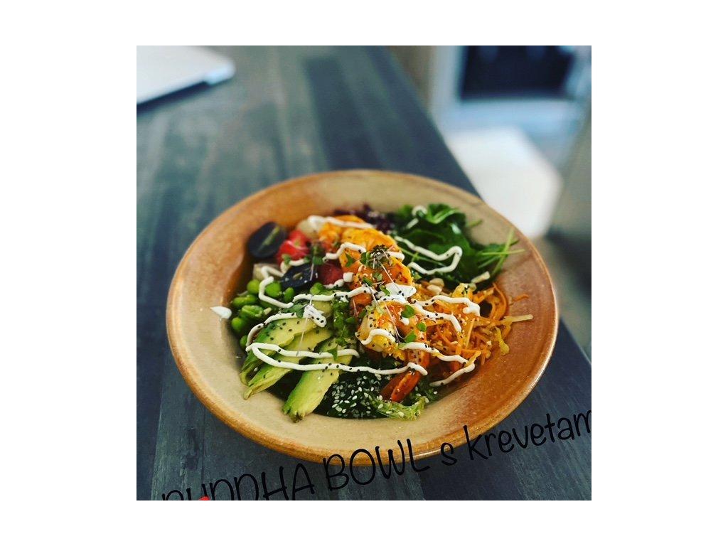 buddha bowl s krevetami