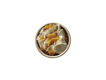 Mandlový desert s mangem