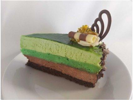 Čoko-pistáciový dortík