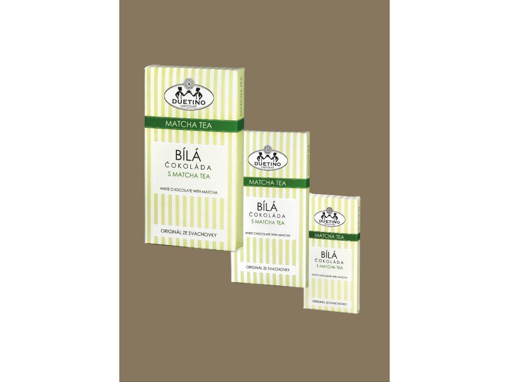 Tabulková bílá s matcha tea