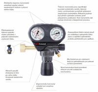 Redukční ventil GCE ProControl KYSLÍK 200/10 bar