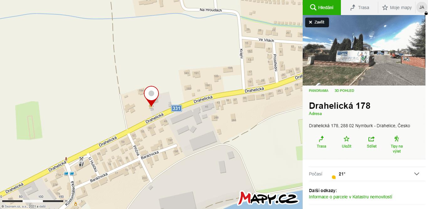 Mapy prodejna svářecí techniky Nymburk
