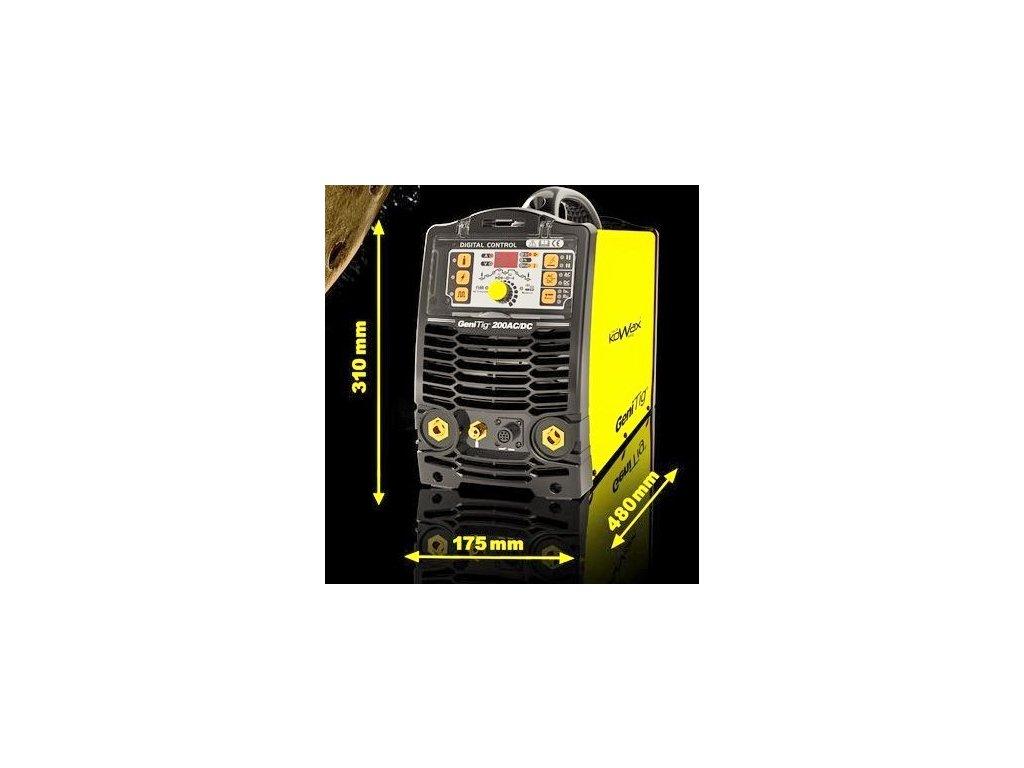 Svářečka GeniTig® 200AC/DC, PULZ, PFC KOWAX®