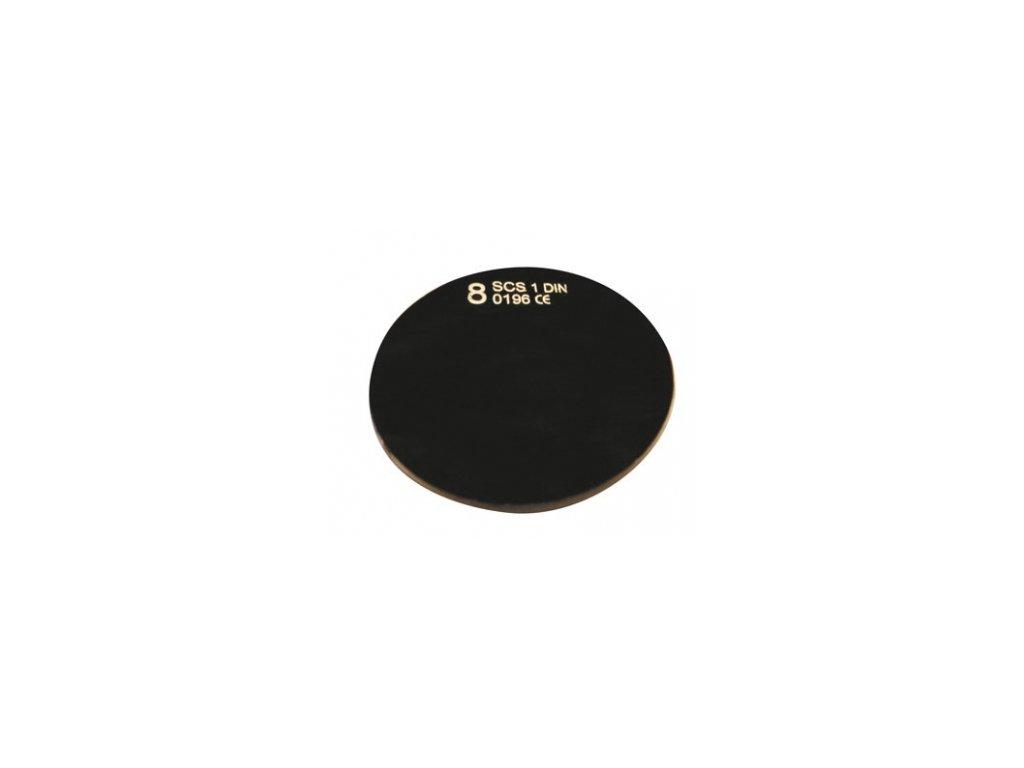 Sklo svářecí kulaté průměr 50 mm tmavé DIN 5