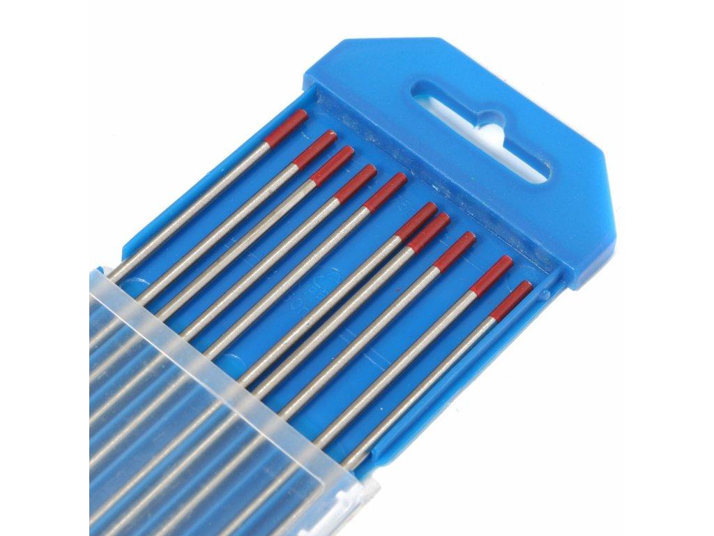 Červená wolframová elektroda , 1 kus, Ǿ 1,00 - 3,20 mm