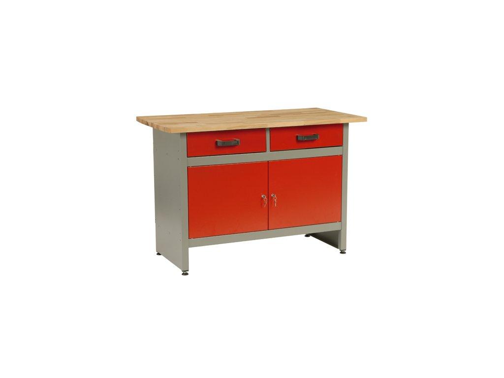 Pracovní stůl MARS 2x zásuvka, 2x dvířka - 1215 x 610 x 800 mm