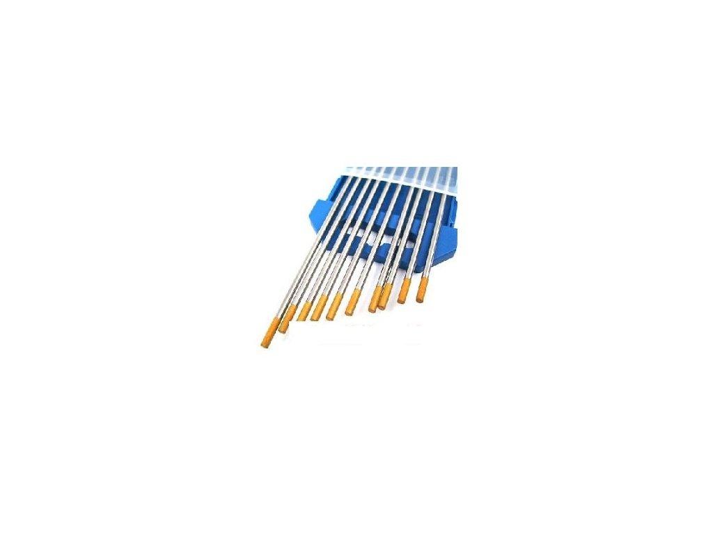 Zlatá wolframová elektroda - 1 kus, Ǿ 1,60 - 3,20 mm