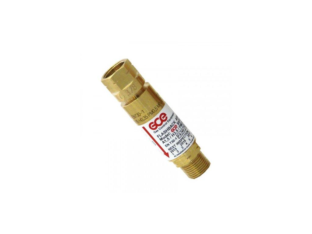 Pojistka proti šlehu Acetylen - za redukční ventil