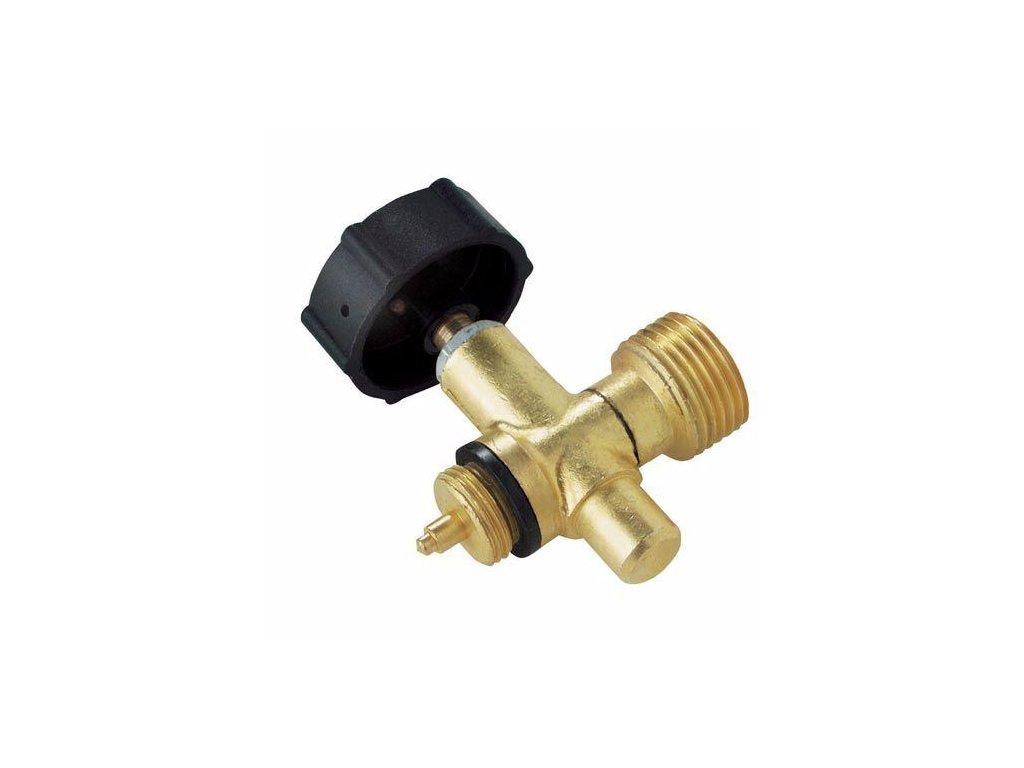 Odtlačovací ventil pro Propan-butan lahev 2 kg - přímý výstupní šroubení W 21,8 L.