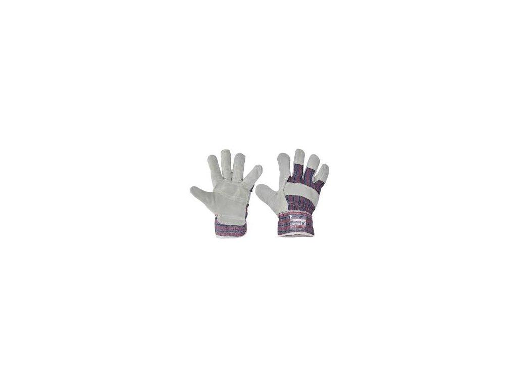 Pracovní rukavice GRAY. Velmi oblíbené a často používané rukavice na hrubší práci. Dlaň a prsty z kůže. Vršek rukavic prodyšný. Dlaň zesílena druhou vrstvou kůže.