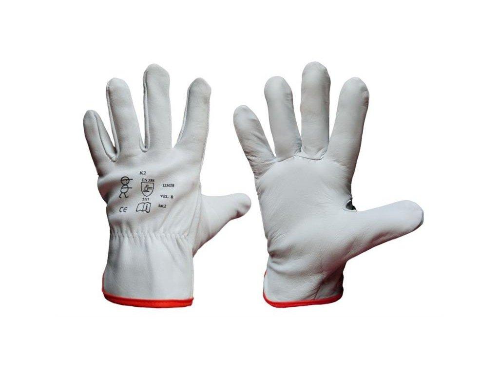 Kožené pracovní rukavice K2