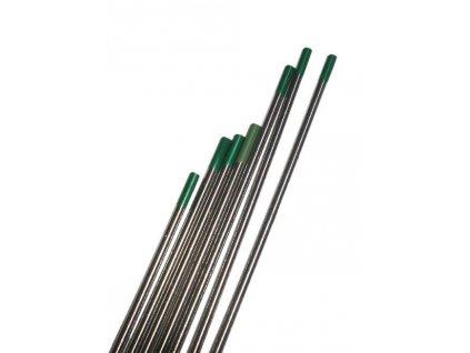 Zelená wolframová elektroda - 1 kus, Ǿ 1,60 - 3,20 mm
