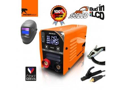 Invertorová svářečka PanterMax 195 LCD pro MMA a TIG - výhodný SET