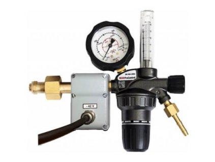 Redukční ventil pro CO2 s vyhříváním 24V a průtokoměrem