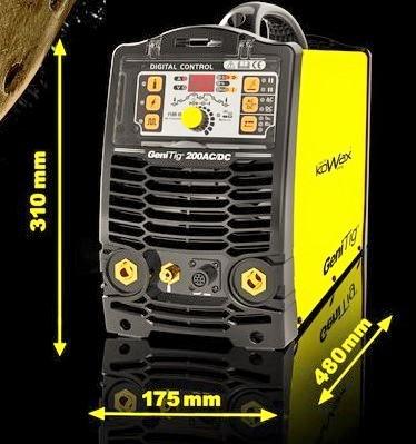 Svářečka GeniTig 200 AC/DC, HF, PULZ, PFC KOWAX pro TIG KWXSTGT200ACDC Hořák a kabely ZDARMA, TIG AC/DC HF Pulz svářečka