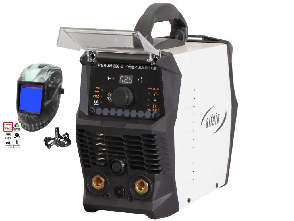 PERUN 220 E Varianta: SET 2: svářečka s výbavou v popisu stroje + kukla profi Predátor 5.0317 výhodný SET - další příslušenství ZDARMA