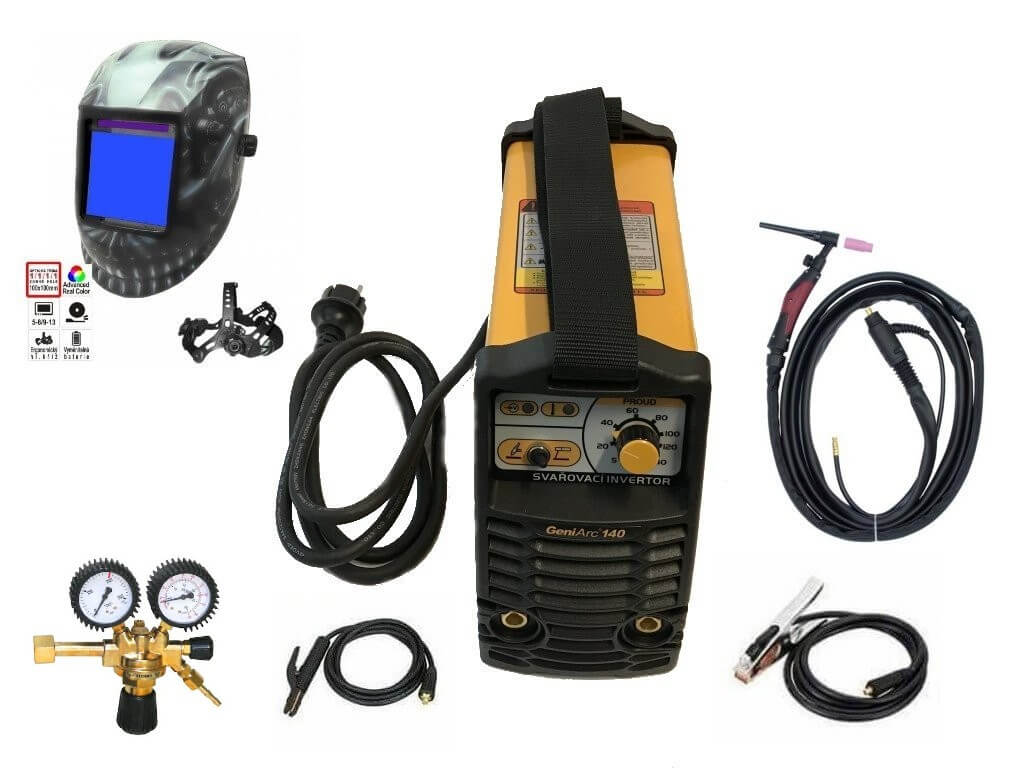 Svářecí inventor KOWAX GeniArc140 - výhodný SET Varianta SETu: SET 1 obsahuje svářečku s výbavou uvedenou v popisu stroje + kukla eco výhodný SET - další příslušenství ZDARMA