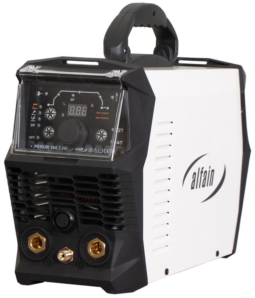 AlfaIn Svářečka TIG Perun 160 T HF - výhodný SET Varianta SETu: SET 3 obsahuje svářečku s výbavou uvedenou v popisu stroje + kukla profi + RV Argon + hořák TIG výhodný SET - další příslušenství ZDARMA