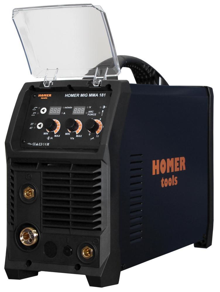 Svářečka na CO2 AlfaIn HOMER MIG MMA 181 - výhodný SET Varianta: SET 10: svářečka s výbavou v popisu stroje + RV CO2 + kukla profi Predátor výhodný SET - další příslušenství ZDARMA