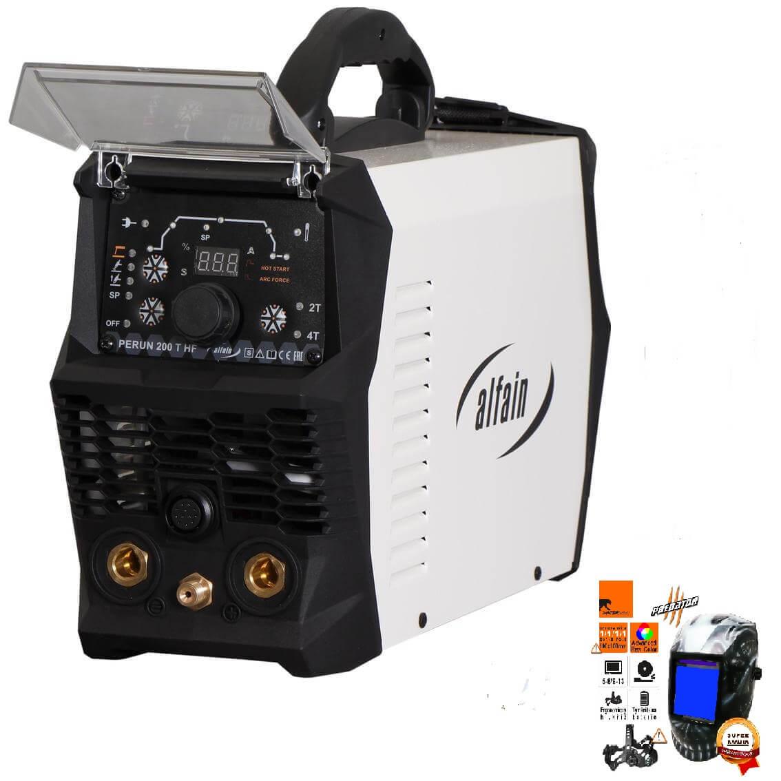 Perun 200 T HF Varianta: SET 2: svářečka s výbavou v popisu stroje + kukla profi Predátor 5.0315 výhodný SET - další příslušenství ZDARMA