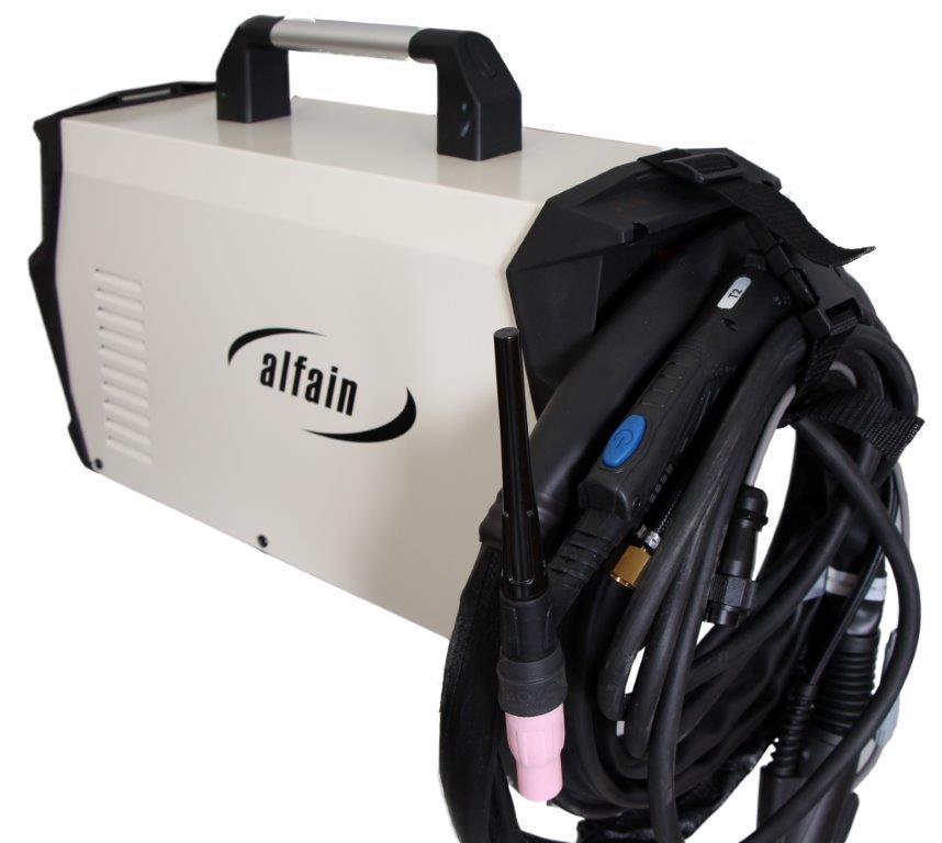 AlfaIn Svářečka TIG Perun 200 T HF - výhodný SET Varianta SETu: SET 3 obsahuje svářečku s výbavou uvedenou v popisu stroje + kukla profi + RV Argon + hořák TIG výhodný SET - další příslušenství ZDARMA