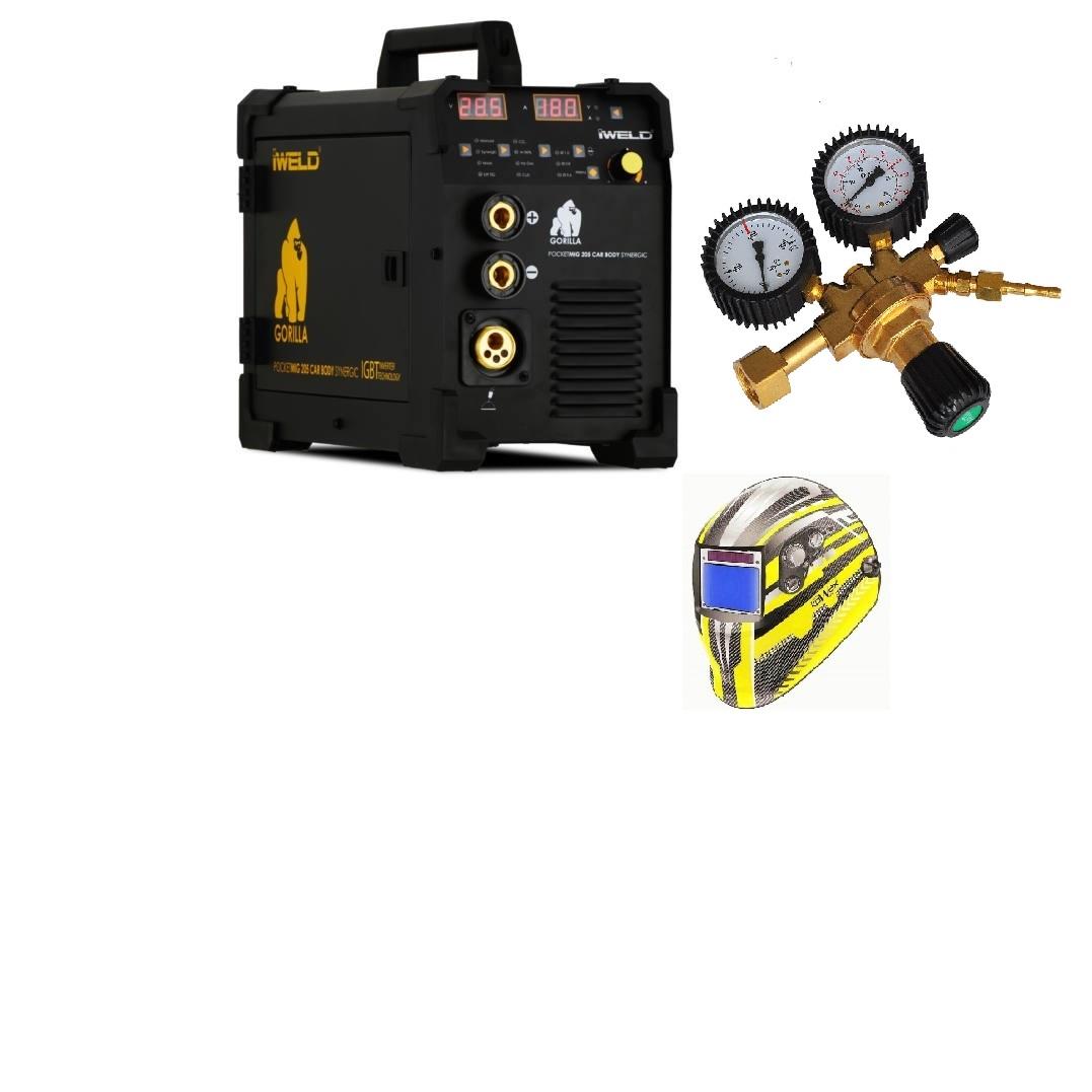 Gorilla PocketMig 205 Varianta: SET 12: svářečka s výbavou v popisu stroje + RV CO2 + kukla expert 730ARC++ výhodný SET - další příslušenství ZDARMA