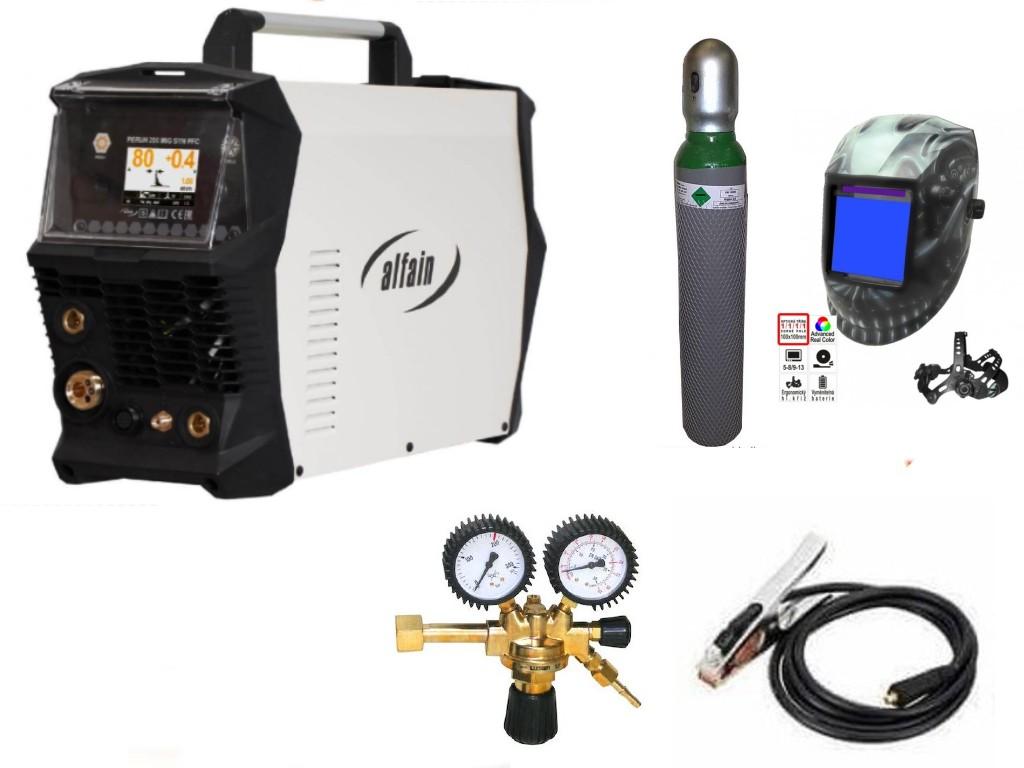Perun 200 MIG Syn PFC Varianta: SET 22: svářečka s výbavou v popisu stroje + kukla profi Predátor + RV CO2 + lahev CO2 plná výhodný SET - další příslušenství ZDARMA
