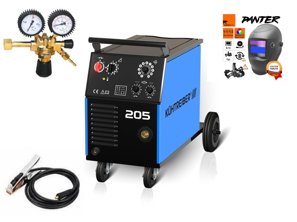 KIT 205 Varianta: SET 8: svářečka s výbavou v popisu stroje + RV CO2 + kukla eco Panter výhodný SET - další příslušenství ZDARMA