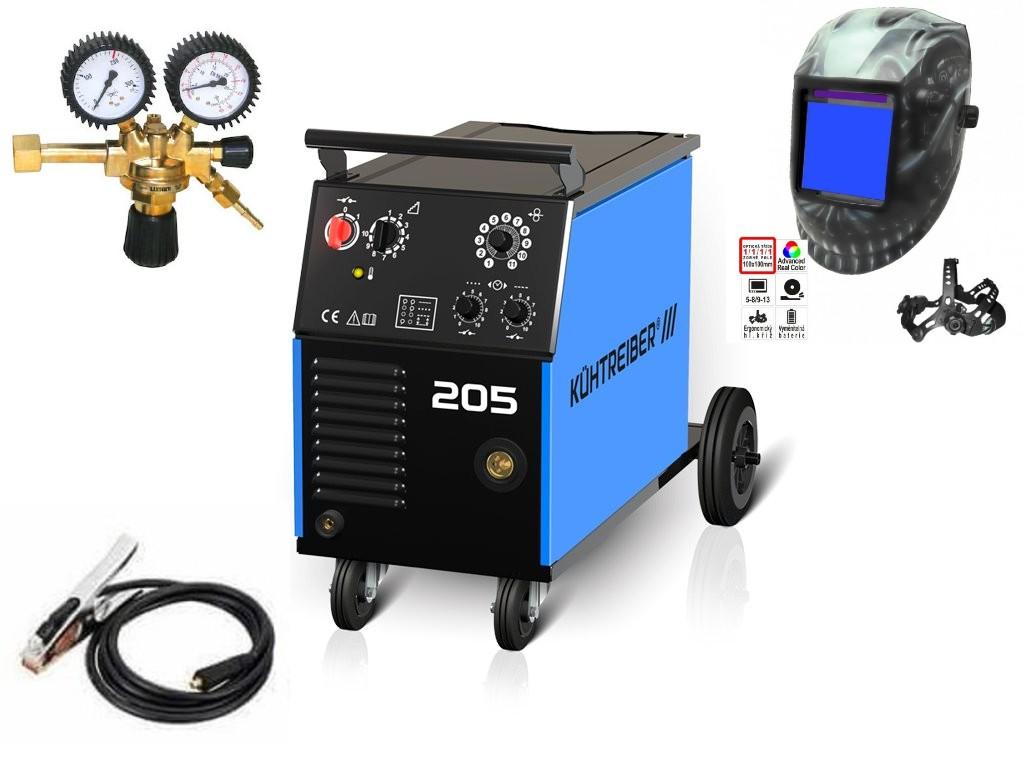 KIT 205 Varianta: SET 10: svářečka s výbavou v popisu stroje + RV CO2 + kukla profi Predátor výhodný SET - další příslušenství ZDARMA