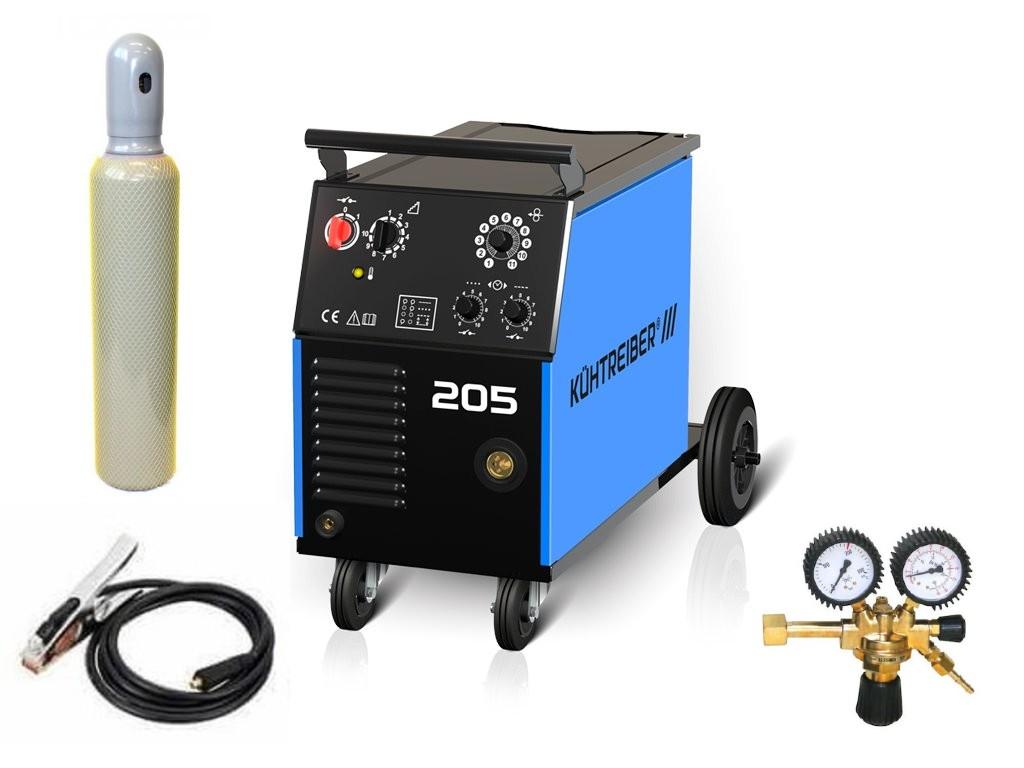 KIT 205 Varianta: SET 21: svářečka s výbavou v popisu stroje + RV CO2 + lahev CO2 plná výhodný SET - další příslušenství ZDARMA