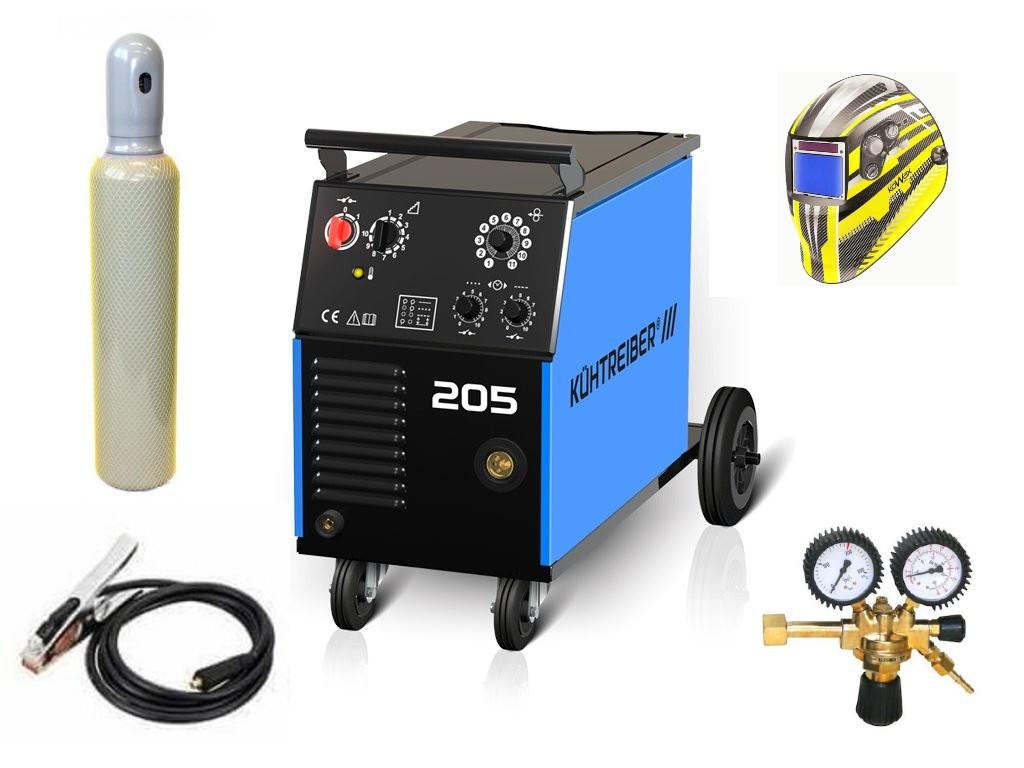 KIT 205 Varianta: SET 23: svářečka s výbavou v popisu stroje + kukla expert + RV CO2 + lahev CO2 plná výhodný SET - další příslušenství ZDARMA