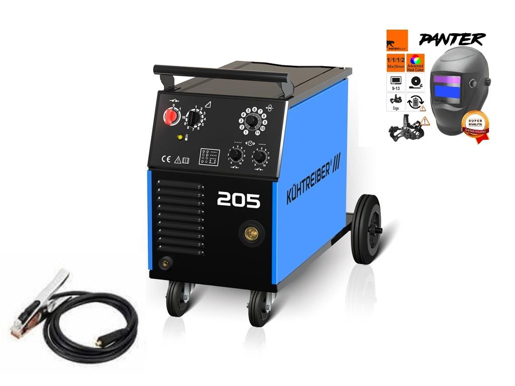 KIT 205 Varianta: SET 1: svářečka s výbavou v popisu stroje + kukla eco Panter výhodný SET - další příslušenství ZDARMA